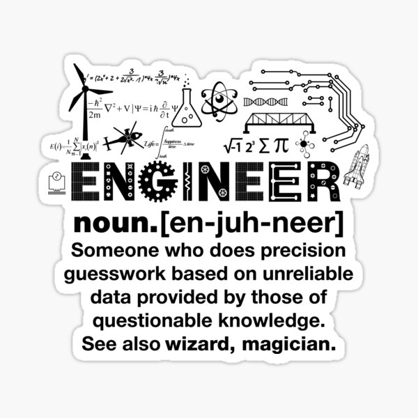 Funny Definition Of An Engineer Sticker