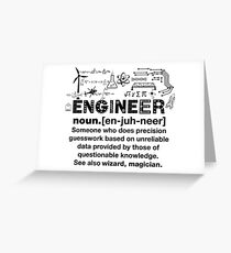 Funny Definition Of An Engineer Greeting Card