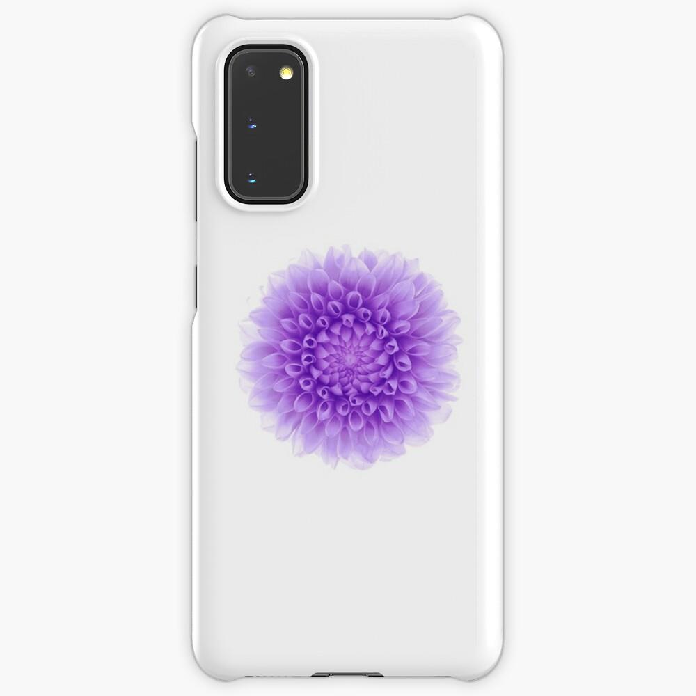 Purple Flower Wallpaper White Iphone Case Case Skin For Samsung Galaxy By 0hmygarden Redbubble