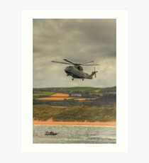 Royal Navy Merlin Helicopter Art Print
