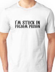 johnny cash man in black country rock icon music lyrics ring of fire folsom prison blues outlaw cool hippie t shirts Unisex T-Shirt