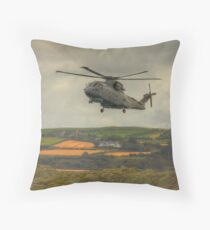 Royal Navy Merlin Helicopter Throw Pillow