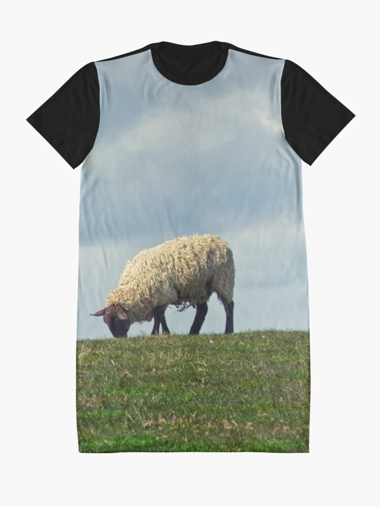 Alternate view of Sheep on the Hill Graphic T-Shirt Dress