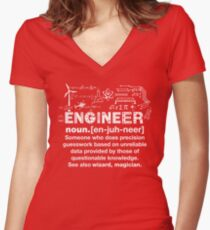Engineer Humor Definition Women's Fitted V-Neck T-Shirt