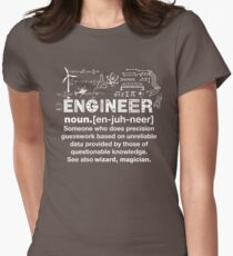 Engineer Humor Definition Womens Fitted T-Shirt