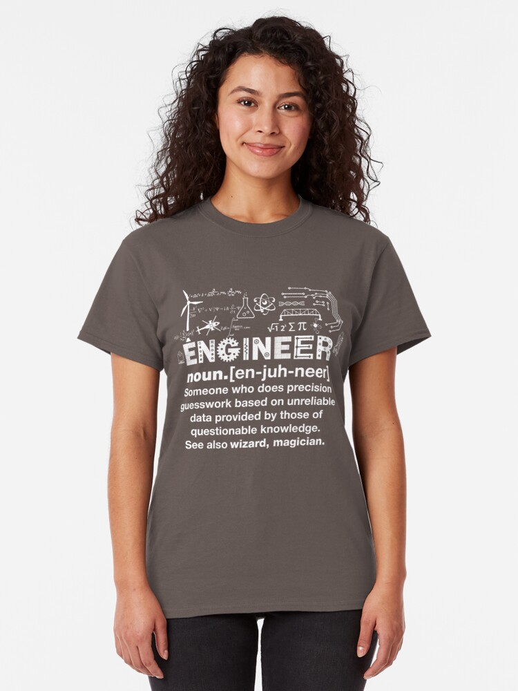 Alternate view of Engineer Humor Definition Classic T-Shirt