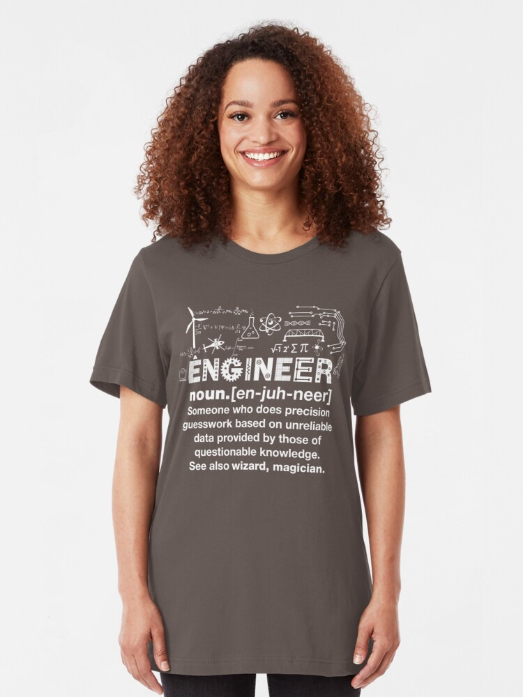 Alternate view of Engineer Humor Definition Slim Fit T-Shirt