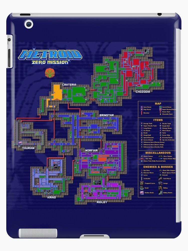 Metroid Zero Mission Karte Ipad Hüllen Klebefolien Von