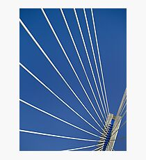 Looking up at Rio-Antirio Bridge Photographic Print