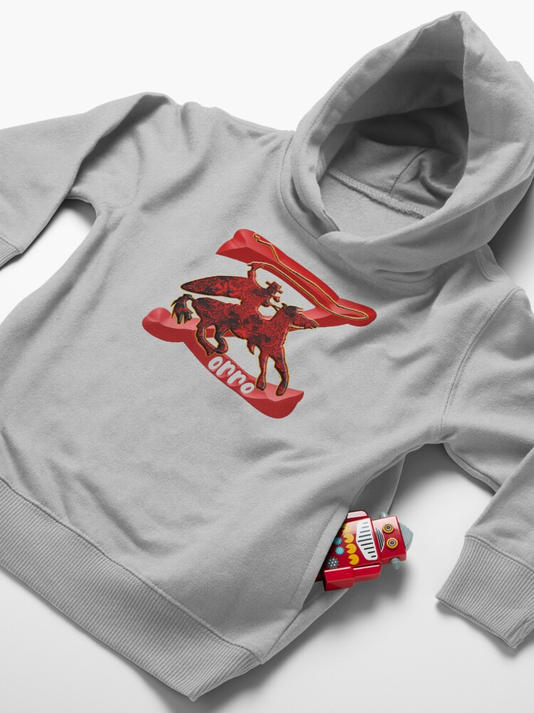 Alternate view of Z AS IN ZORRO - ZORRO ON HORSEBACK - ZORRO THE MYTH - THE WHIP MASTER - THE LEGEND OF AN OUTSTANDING HORSEMAN3 Toddler Pullover Hoodie