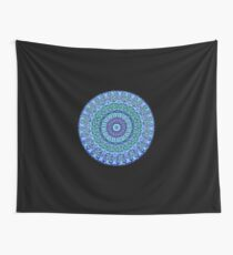 Blue Spirit Mandala Wall Tapestry