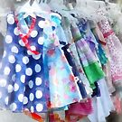 Girl's Dresses at Street Fair by Susan Savad