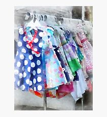 Girl's Dresses at Street Fair Photographic Print