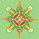 Carrot-Bean mandala--bean green by BetsyRiley