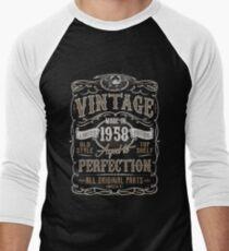 Camiseta ¾ bicolor para hombre Made In 1958 Birthday Gift Idea