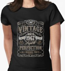 Made In 1967 Birthday Gift Idea Women's Fitted T-Shirt