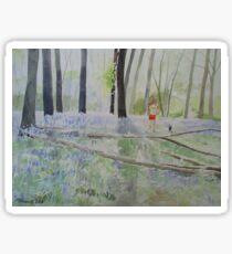 Hot Spring Bluebell Jogger Sticker