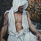 the gentle man  acrylic on canvas by Thomas Acevedo