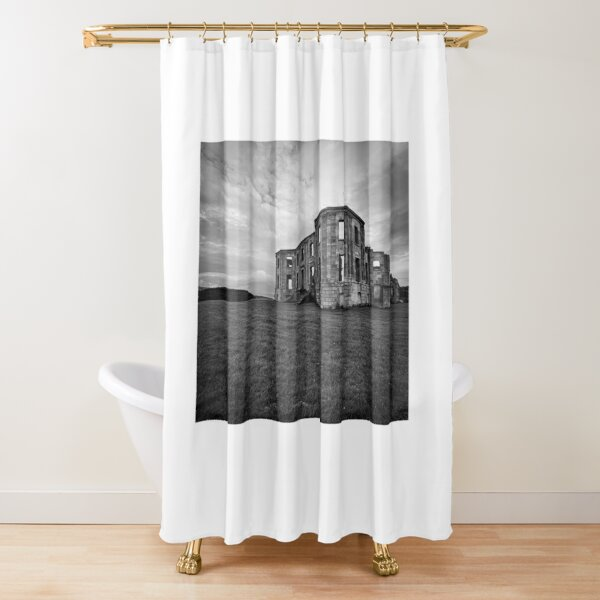 Downhill House Shower Curtain