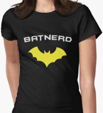 BATNERD - Super Hero Nerd Geek  Women's Fitted T-Shirt