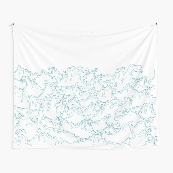 Laconic Ocean storm waves  Tapestry