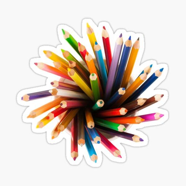 Sticker Colored Pens Sticker