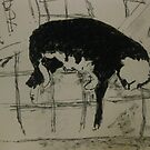 sleeping cat by Alfred Gillespie
