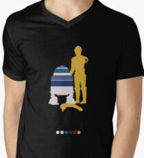 Androids (White Background) Mens V-Neck T-Shirt