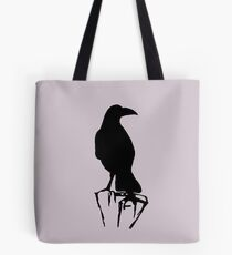Raven Perch Silhouette Tote Bag