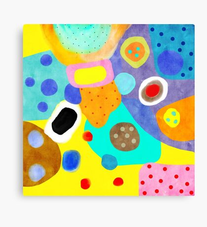 Abstract Unusual weird but wonderful colours Canvas Print