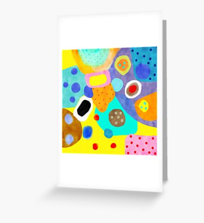 Abstract Unusual weird but wonderful colours Greeting Card