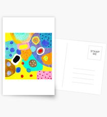 Abstract Unusual weird but wonderful colours Postcards