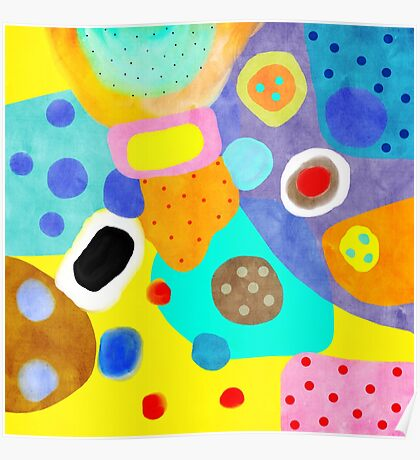 Abstract Unusual weird but wonderful colours Poster