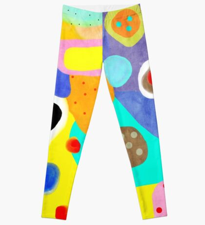 Abstract Unusual weird but wonderful colours Leggings