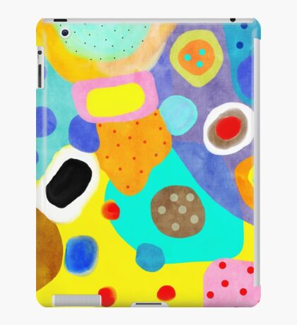 Abstract Unusual weird but wonderful colours iPad Case/Skin