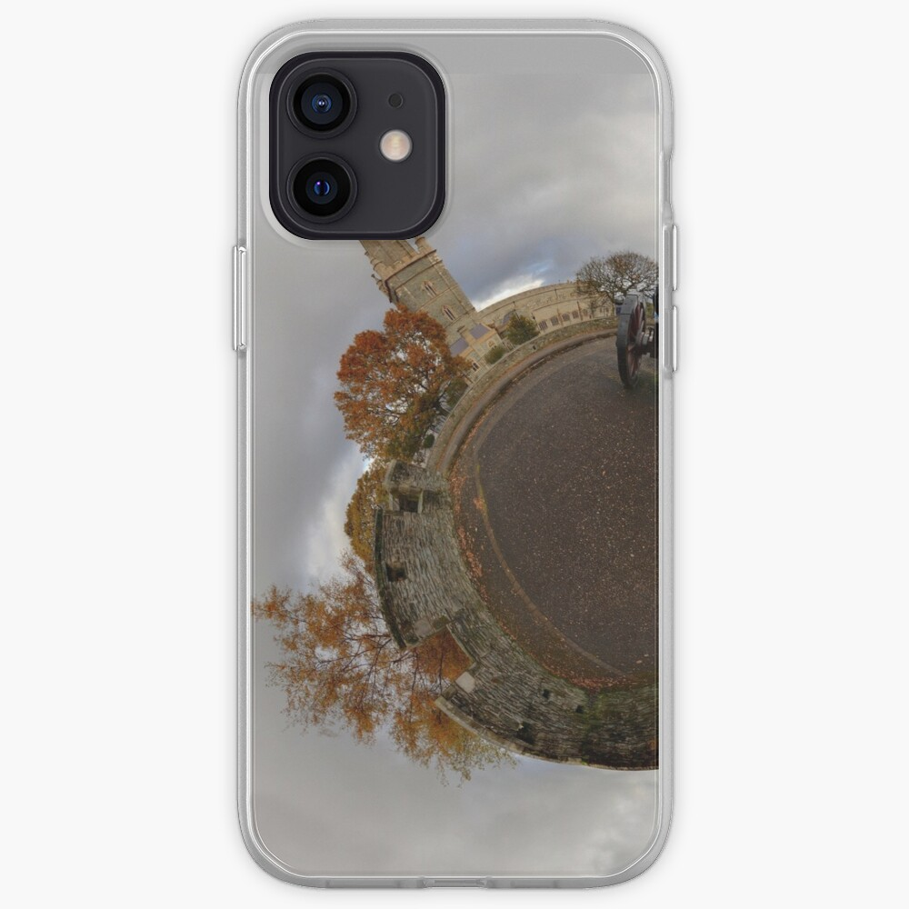 St Columb's Cathedral from Derry's Walls at Church Bastion, Derry iPhone Case & Cover