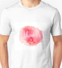 Thank you. Modern brush calligraphy. Handwritten lettering.  T-Shirt