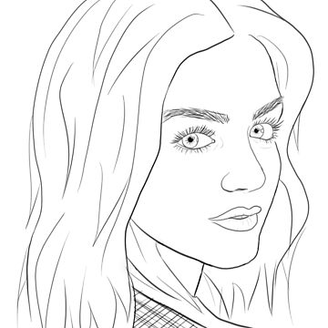 Lucy Hale Outline by jana95s