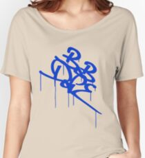 Bob Dope dripping tag logo - Blue Women's Relaxed Fit T-Shirt