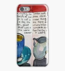 Blue cup green saucer iPhone Case/Skin