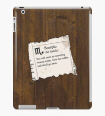 Scorpio Horoscope iPad Case/Skin