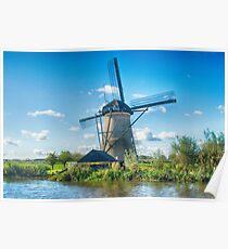 Windmills of Kinderdijk Nederlands (UNESCO Site) Poster