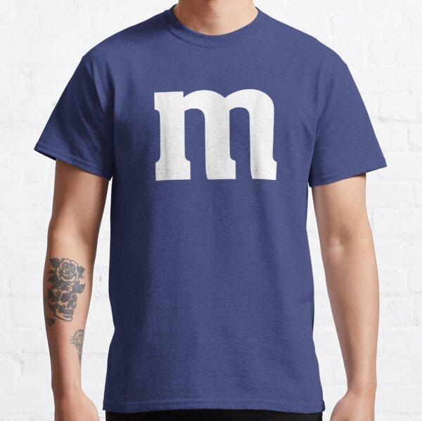 Lettre M Alphabet Minuscule Halloween Chocolat Bonbons Halloween Costume D'équipe Fête Drôle T-shirt classique