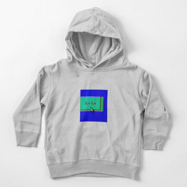 Bye Bye Windows 95 Vaporwave Chillwave Synthwave Vintage Computer Glitch Art  Toddler Pullover Hoodie