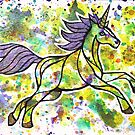 It's All About Your Sparkle. Magical Unicorn Watercolor Illustration. by mellierosetest