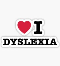 I heart dyslexia Sticker