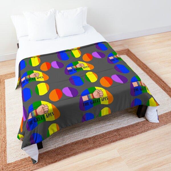 Rainbow dog pride Sticker Comforter