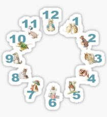 Beatrix Potter Clock Sticker