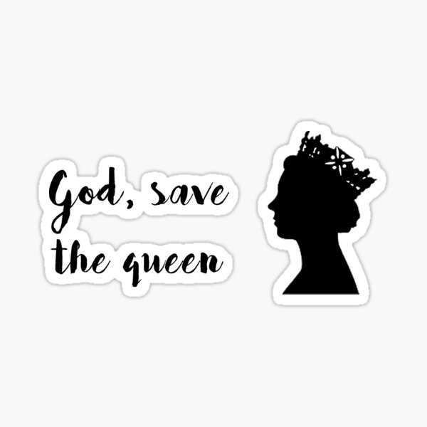 god save the queen Sticker
