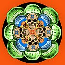 Bite Me! Skull Salad mandala by BetsyRiley